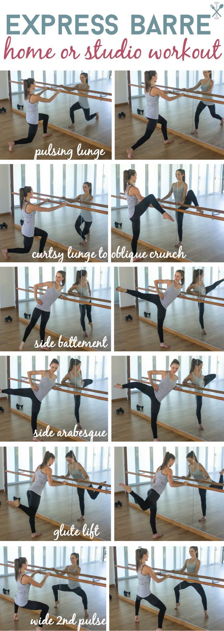 The best barre workout you can do at home, in only 10 minutes! Guaranteed to make you shake and tone your lower body like crazy.