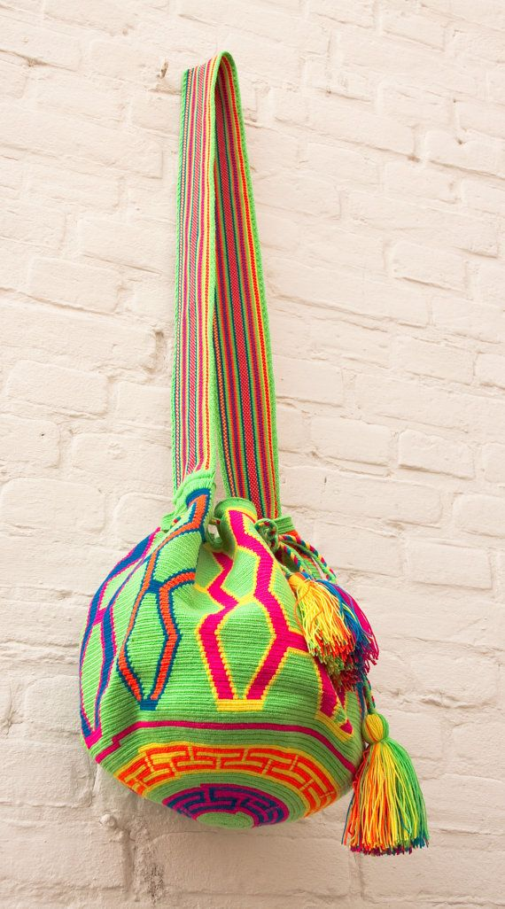 Miss Mochila Bag Wayuu by JourneyInColors on Etsy