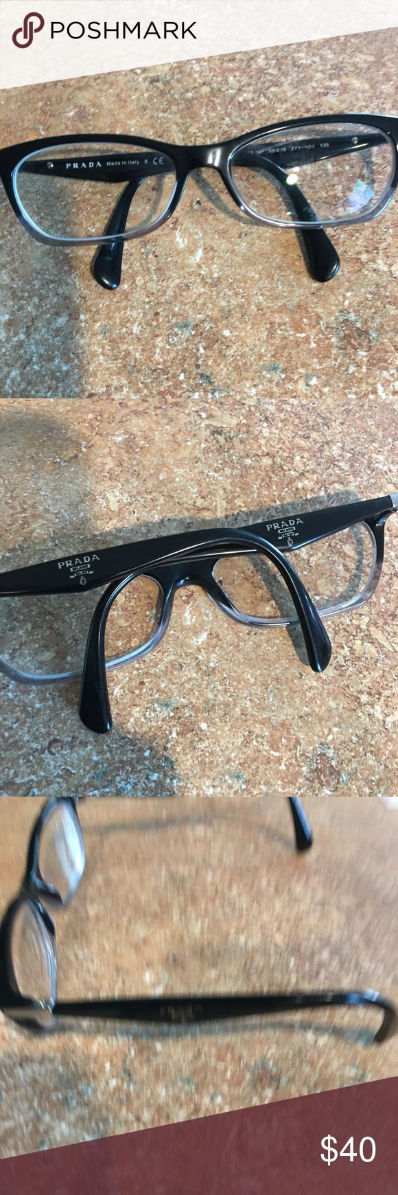 Prada prescription glasses frame Good condition ; has it for a year and changed glasses ; you just need to bring it to the optical office and replace the lenses with your prescription in there prada Accessories Glasses