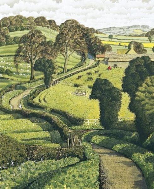 Artist Simon Palmer.  Looks like the Shire to me,
