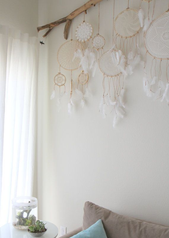 Vintage Doily Dreamcatcher No. 004 by BelleNotti on Etsy: