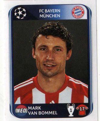 FC BAYERN MUNICH - Mark Van Bommel 285 PANINI UEFA Champions League 2010-2011 Football Sticker