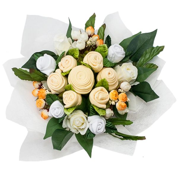 The new yellow bouquet is gender neutral and a perfect gift for a baby shower!