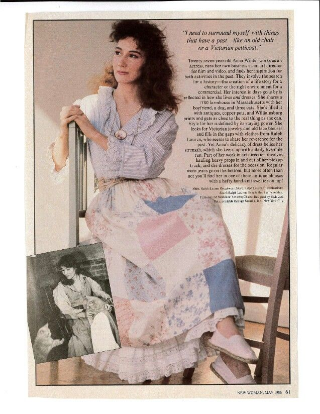Vintage Ralph Lauren from New Woman magazine May 1986