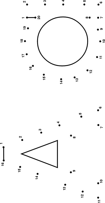 Printable Alphabet Dot-to-Dot: Letters A and a