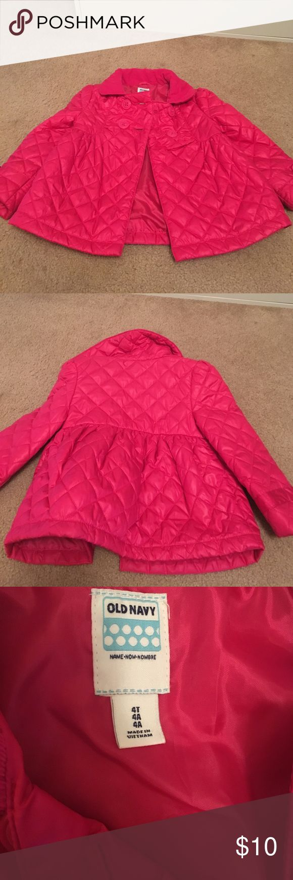Old navy quilted coat Pink lightweight quilted coat from old nav! Excellent condition! Old Navy Jackets & Coats