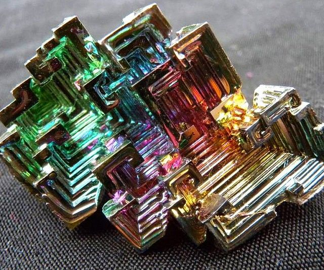 Make any part of your room or office radiate with color by decorating it using these bismuth crystals. These gorgeous man-made crystals display iridescent rainbows caused by light scattering off the thin layers of bismuth oxide when its hot surface reacts to air.