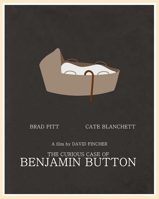 The Curious Case Of Benjamin Button 2008 Movie Posters Minimalist Alternative Movie Posters Movie Posters