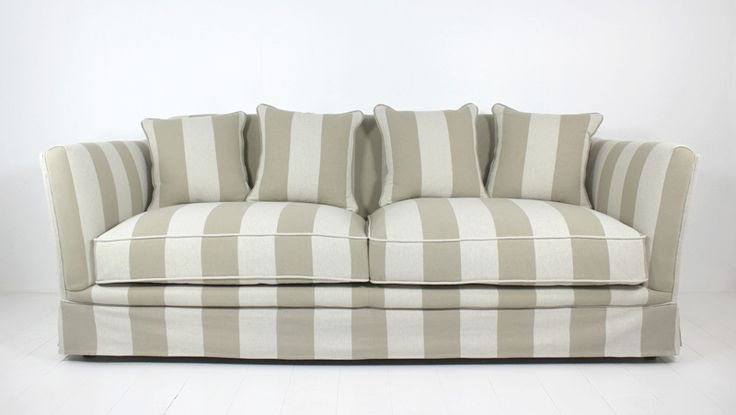 Our Sofa Connecticut 3 Seat Stripe is the perfect Sofa to give a dull lounge room a fresh and relaxed look.