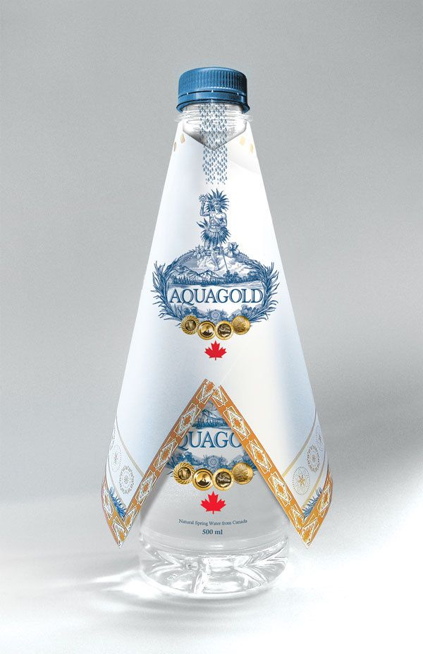 Canadian inspired packaging design for Aquagoldcanada