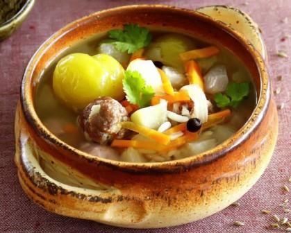 Вкусный суп с рыбой