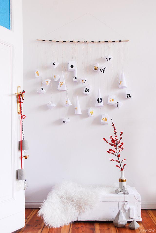 Geometric Paper Advent Calendar | Funkytime