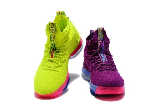 f323f1aadf5 Nice Nike LeBron 15 Pride of Ohio Purple Fluorescent yellow Men s Sneakers  Basketball Shoes