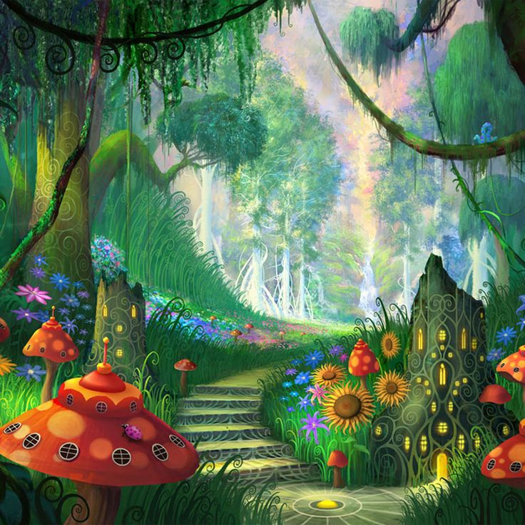 140 best images about imaginary worlds on pinterest for Fairy garden wall mural