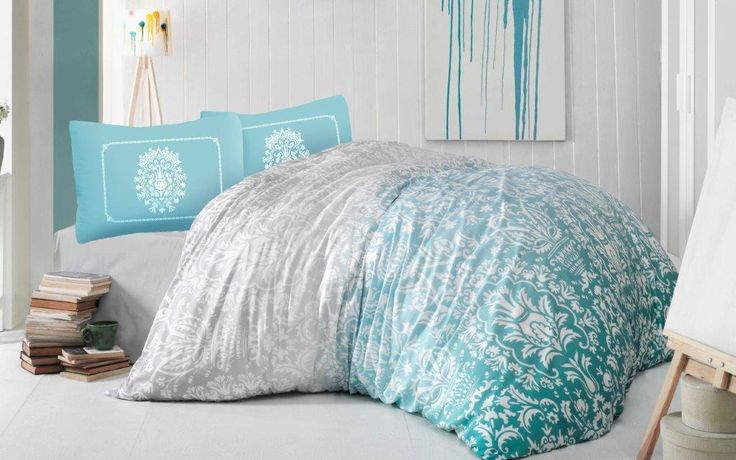 Holey Quilt obliečky Bavlna Deluxe  Chloe tyrkysová 140x200, 70x90cm