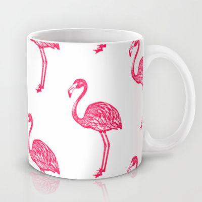 American Flamingo (pink) Mug by The Wallpaper Files - $15.00