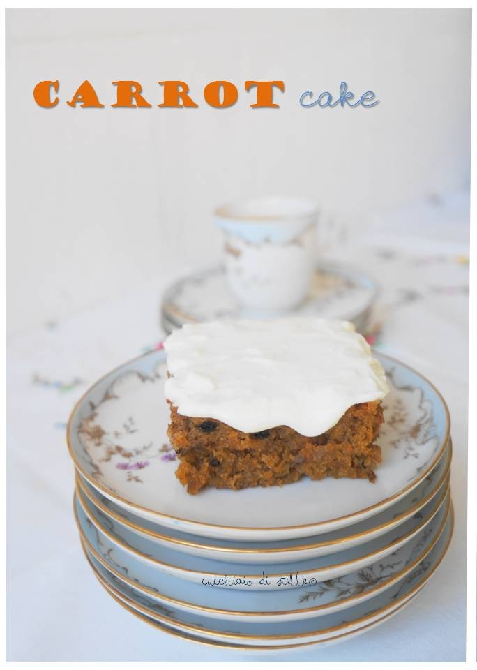 Carrot cake, torta di carote americana