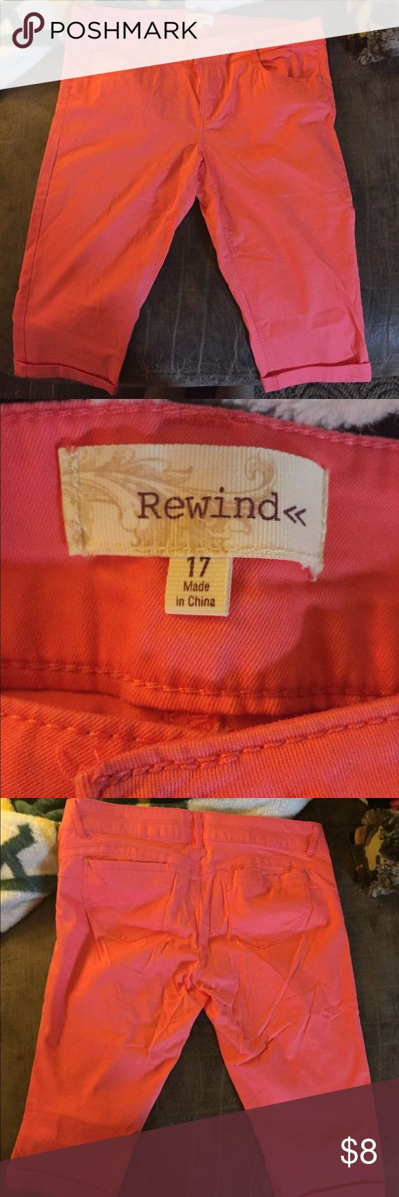 Coral Capri pants Ladies coral Capri pants by rewind, super soft material very comfy to wear barely worn Pants Capris