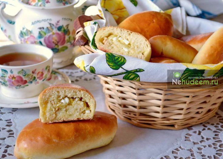Пирожки с тунцом в духовке — Пошаговые рецепты с фото