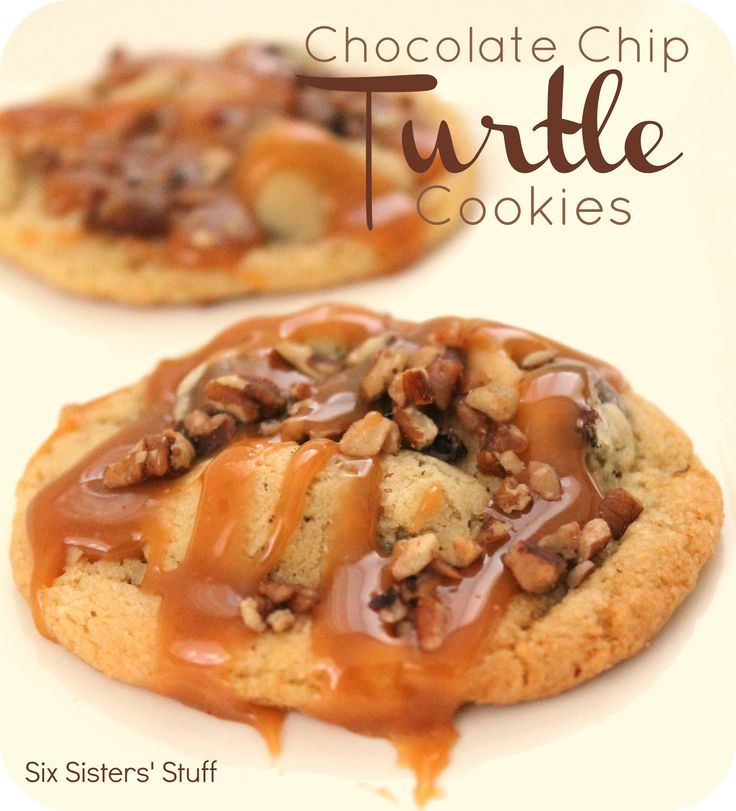 Chocolate Chip Turtle Cookies...  A delicious twist on the chocolate chip cookie!
