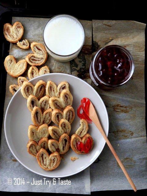 Just Try & Taste: Palmiers dari Puff Pastry Instan