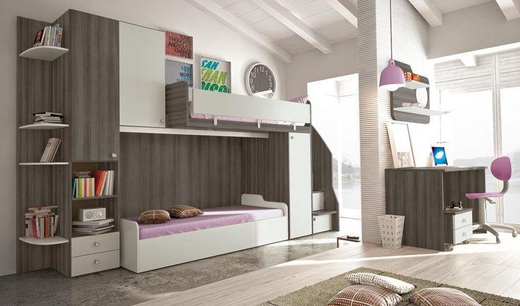 мебель для детских двухъярусные кровати P208 линейный
