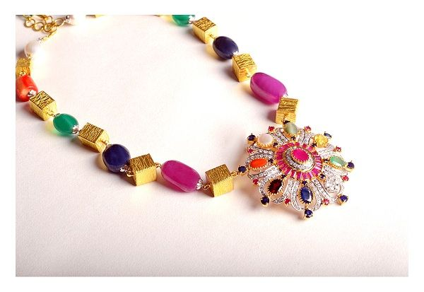 Colorful necklace  by PP Jewellers