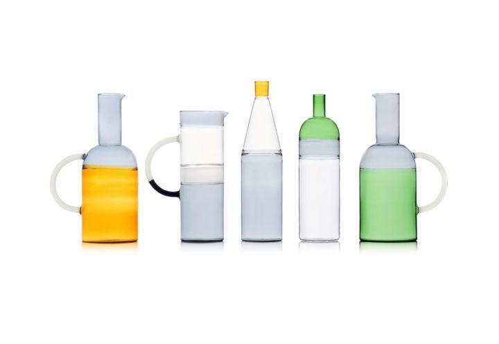 Tequila Sunrise, la collezione di caraffe e bottiglie realizzate in vetro borosilicato. Di MIST-O, una firma che nasce dalla collaborazione tra Noa Ikeuchi e Tommaso Nan, per Ichendorf