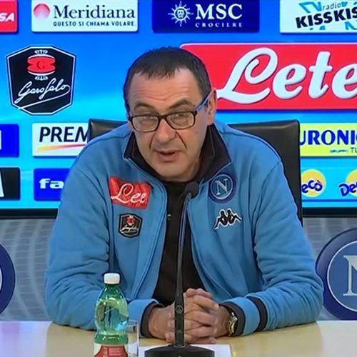 """Napoli, Sarri: """"Milan – Napoli? Per noi gara difficilissima. Juve di un'altra categoria"""""""