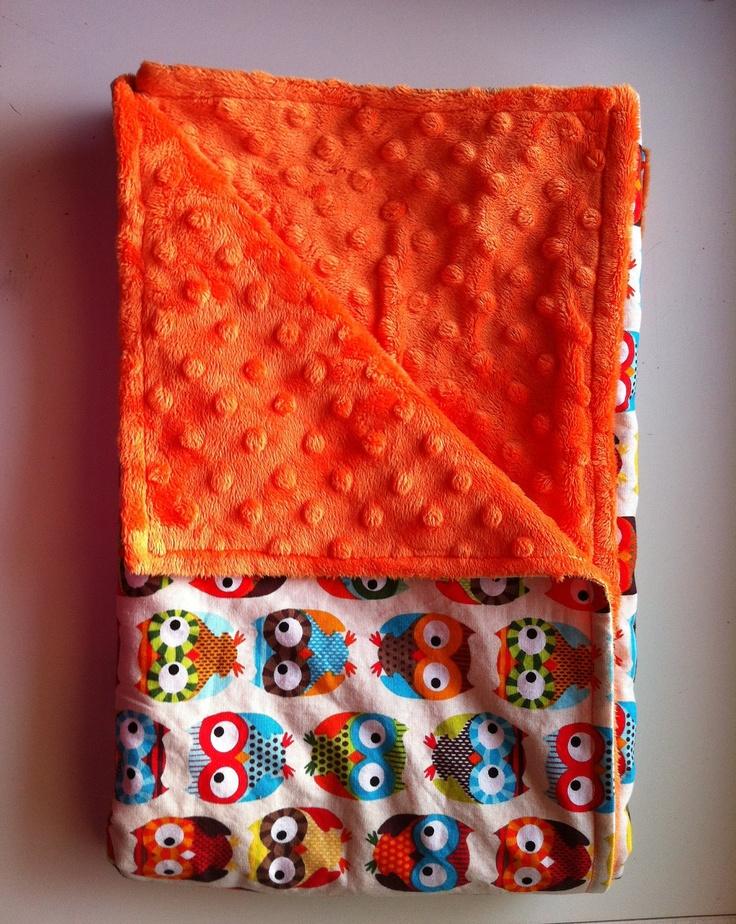 Baby Blanket, Owl Baby Blanket with Minky. $32.00, via Etsy.