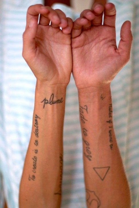 Margaux Lonnberg. I love scattered, delicate, and inconsistent tattoos.