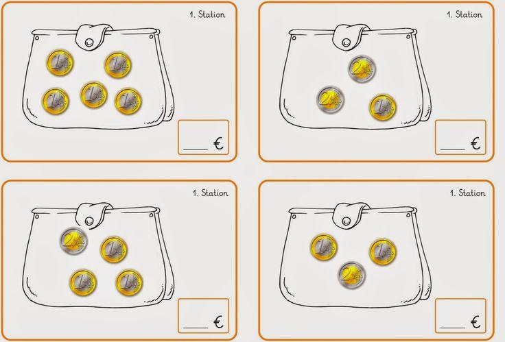 Lernstübchen: Stationskarten 1 bis 4 zum Geld