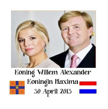 Koning Willem- Alexander  Koningin Maxima 30april 2013