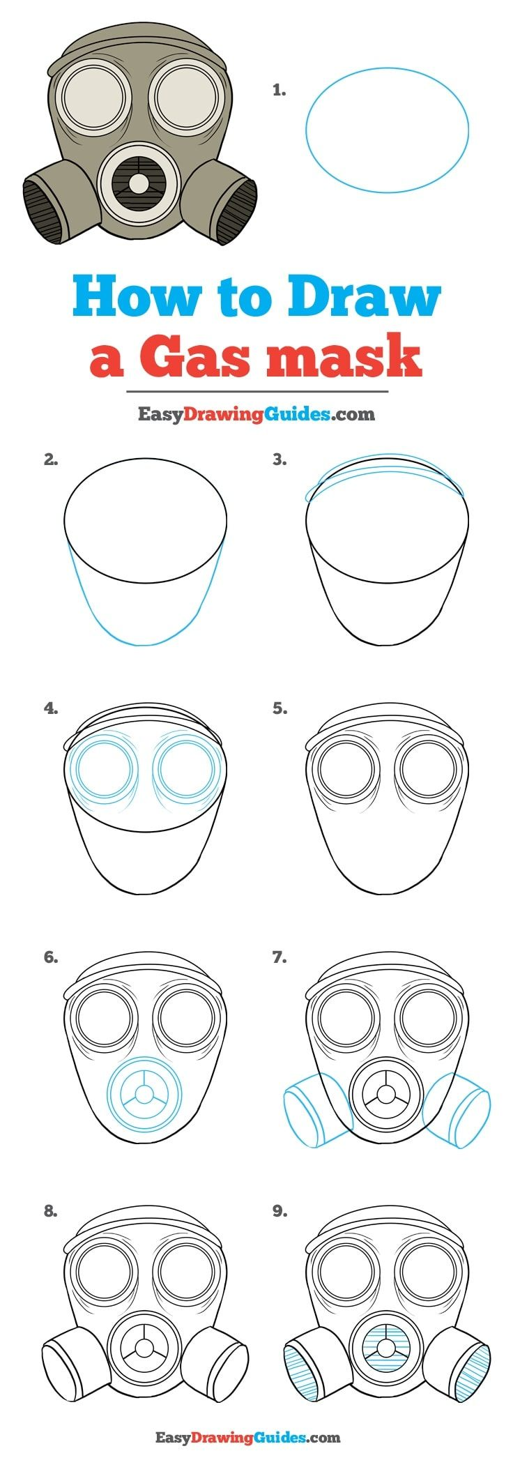 How to Draw a Gas Mask – Really Easy Drawing Tutorial