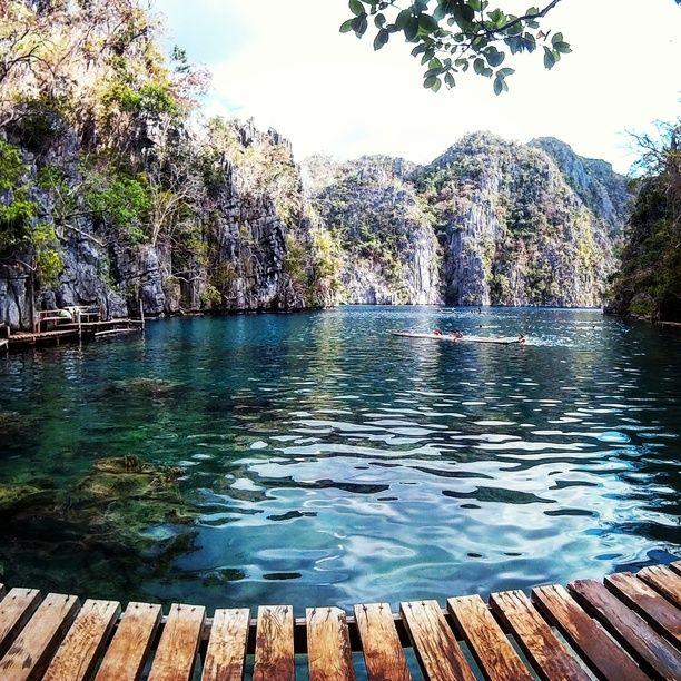 Kayangan Lake, Coron, Philippines — by Michaela Prades. Kayangan Lake #waterlust #blue