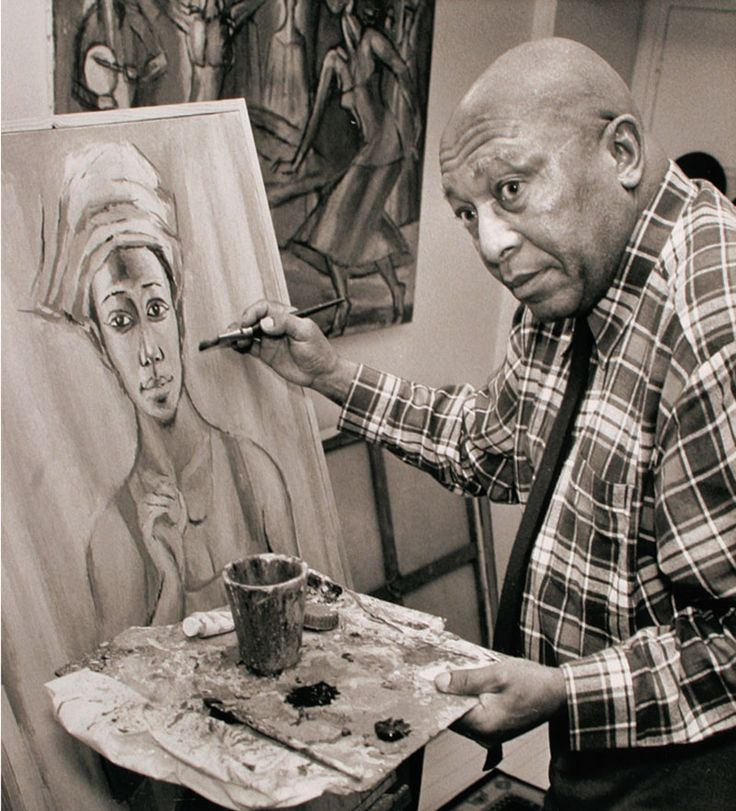 Gerard Sekoto, was a South African artist and musician. He is recognized as the pioneer of urban black art and social realism.