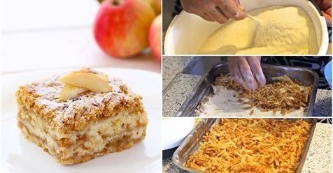 Jednoduchý vrstvený jablkový koláč so škoricou z jedného plechu, ktorý urobíte aj počas varenia obeda - Báječná vareška