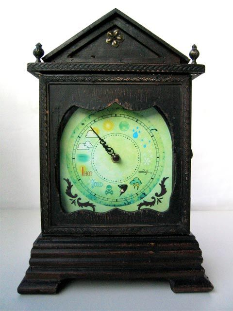 Antique Weather Clock: Clock Tells, Antique Clocks, Clock Mashup, Tock Clocks, Weather Girl, Awesome Antiques, Schirmer S Weather