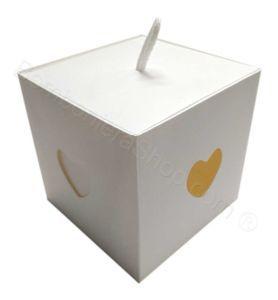 Scatola 10x10x10  per bomboniere Fai da Te finestre cuore