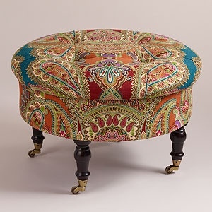 Love this cheeky ottoman - who can resist it with a name like Lucille? World Market