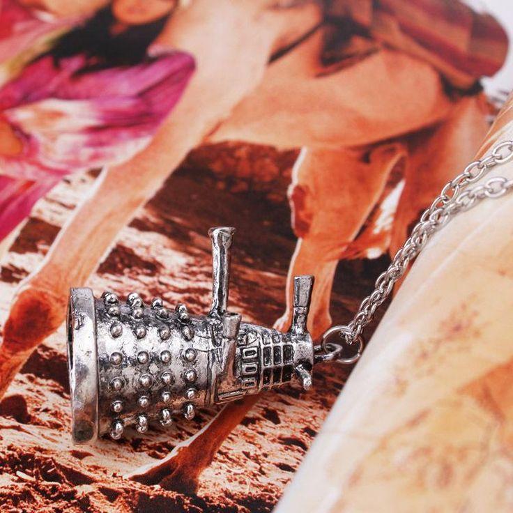 Купить товарКольер продажа цинка мужская модные 2015 европейских и американских мода горячая доктор кто далек робот кулон ожерелье аксессуары для в категории Подвескина AliExpress.