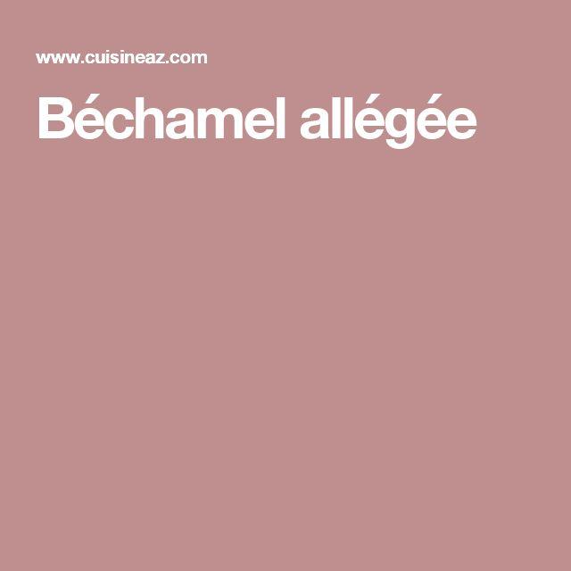 Béchamel allégée