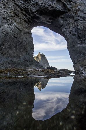 Hole in the Wall, a popular destination at Olympic National Park's Rialto Beach | The Seattle Times