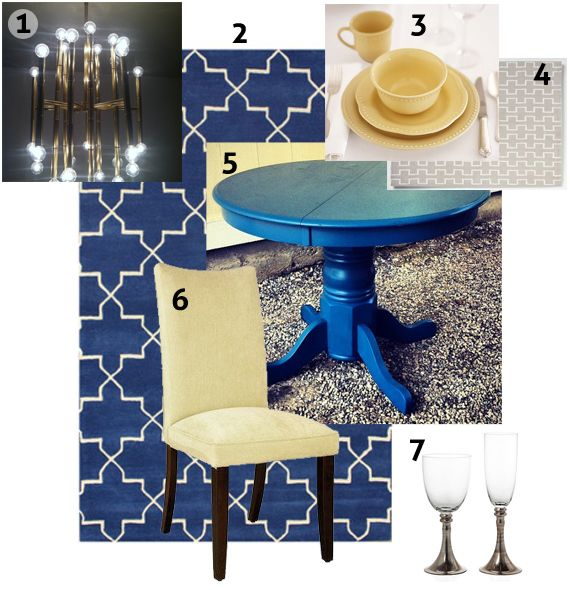 17 best images about inspiration boards on pinterest - Yellow and blue dining room ...