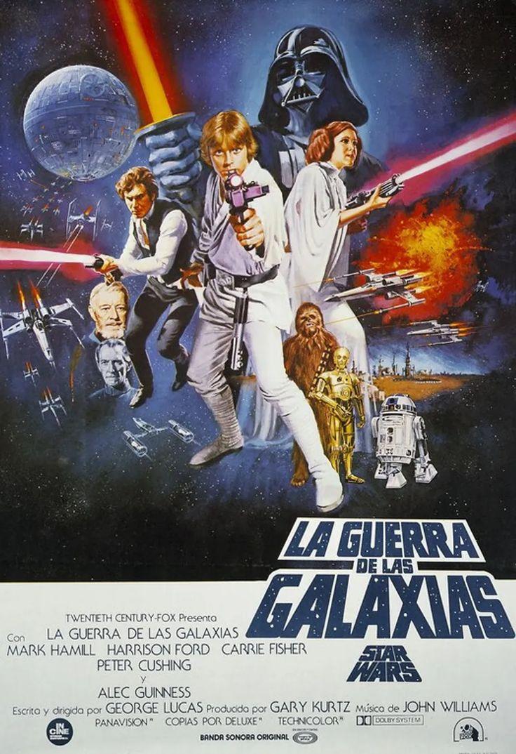 Las 101 mejores películas de ciencia ficción Mark Hamill, Harrison Ford, Carrie Fisher, Alec Guinness, Star Wars, Comic Books, Stars, Comics, Movie Posters
