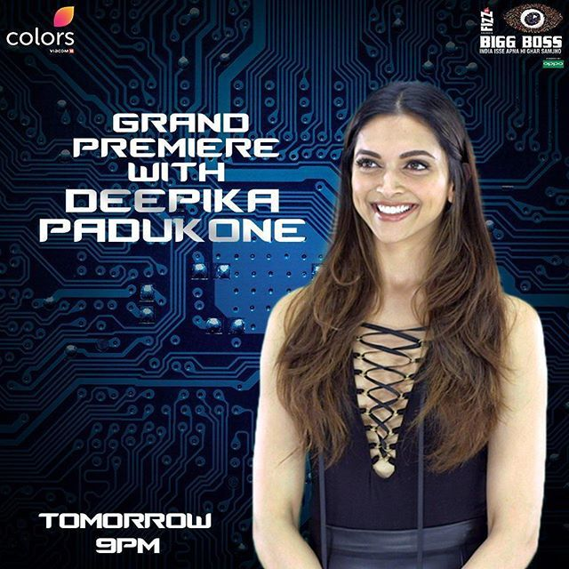 News:@deepikapadukone is shooting for the first episode of #BiggBoss10 in #Lonavla right now... Will be aired tomorrow... Don't forget to watch Bigg Boss Tomorrow at 9PM on colors. The xXx3 Trailer will be release Tomorrow on Bigg Boss with Salman and Deepika❤