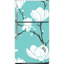 Seamless Magnolias Magnetic Top Freezer Refrigerator Covers | Magnolias Magnet Skins, Covers and Panels are BIG magnetic sheets that cover F...