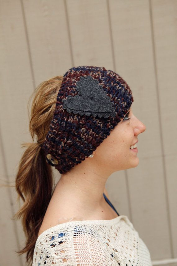 Knitted Headband in Mountain Palette of Blue by BglorifiedBoutique, $29.00