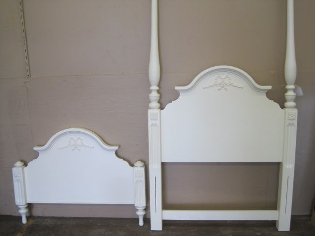 white twin bed headboard footboard 1