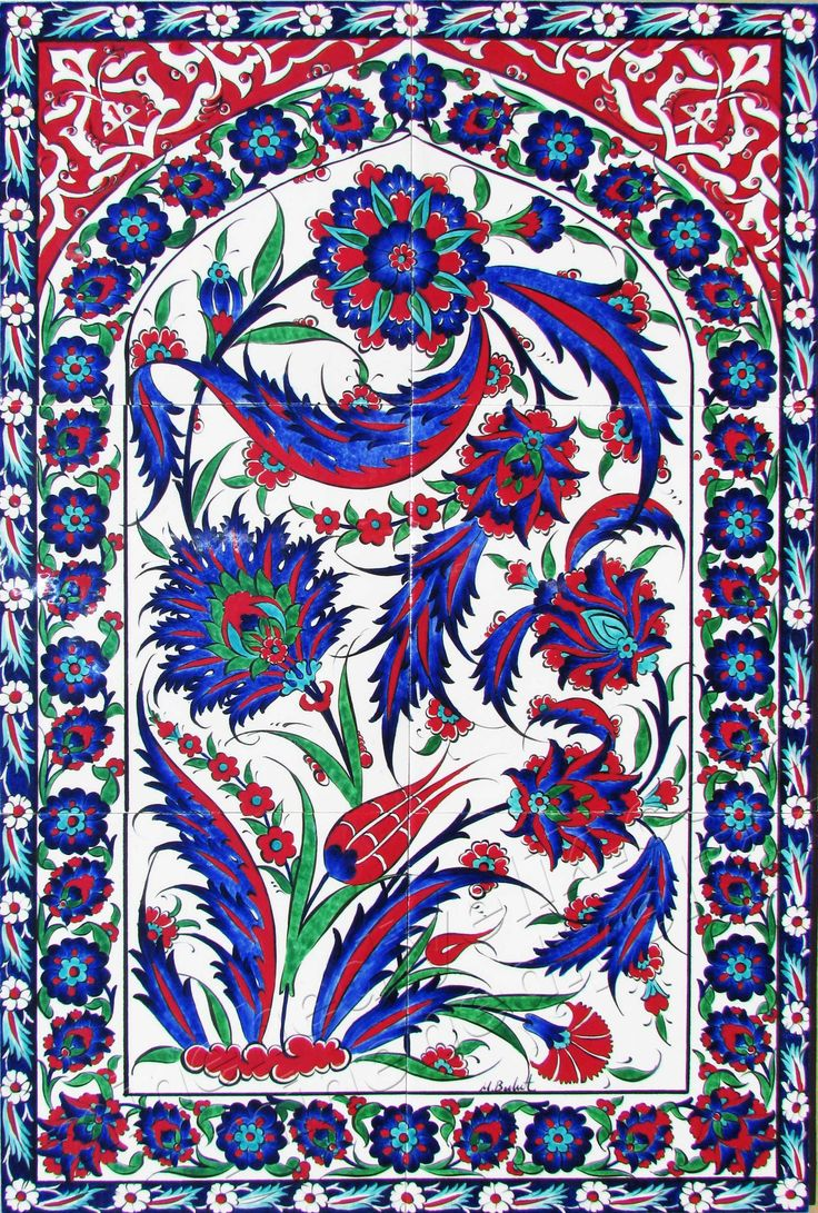 Ottoman Traditional Turkish Tiles Art Osmanlı Çini Karo Panoları Turkey